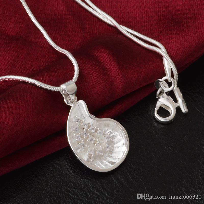 Бесплатная доставка мода высокое качество 925 Серебряная Снежинка ожерелье ювелирные изделия с бриллиантами 925 Серебряное ожерелье День Святого Валентина праздничные подарки горячие 1638