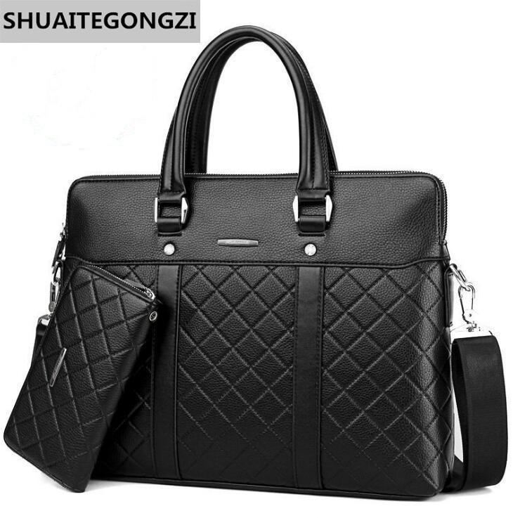 Factory Wholesale Brand Men s Bags Business Embossed Men Briefcase ... 5d1006a520