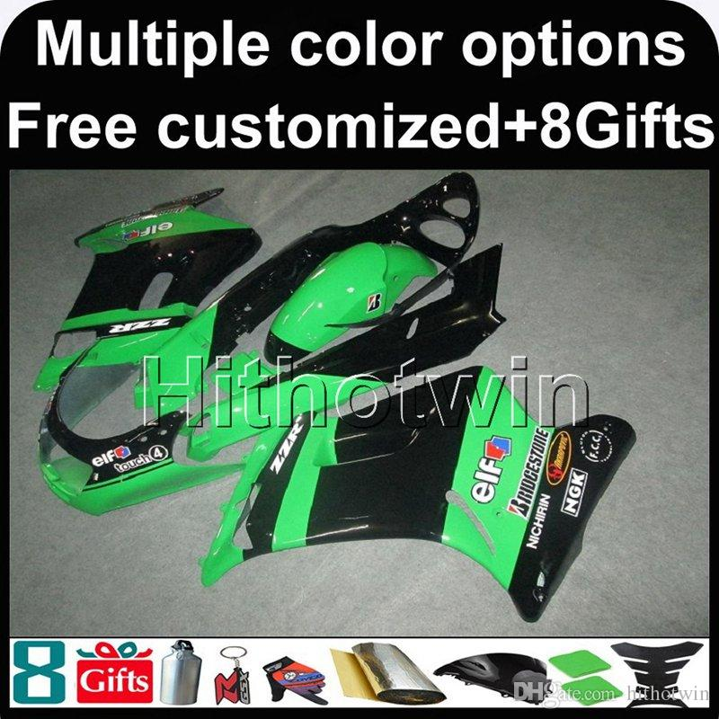 23colors+Gifts GREEN motorcycle cowl for Kawasaki ZZR250 1990-1996 ZZR 250 90 91 92 93 94 95 96 ABS Plastic Fairing