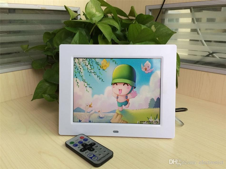 New Hot Digital Photo Frame 1280*800 HD-LED High Resolution 15 inch Picture Frame With Alarm Clock MP3 MP4 Movie Player Remote Control