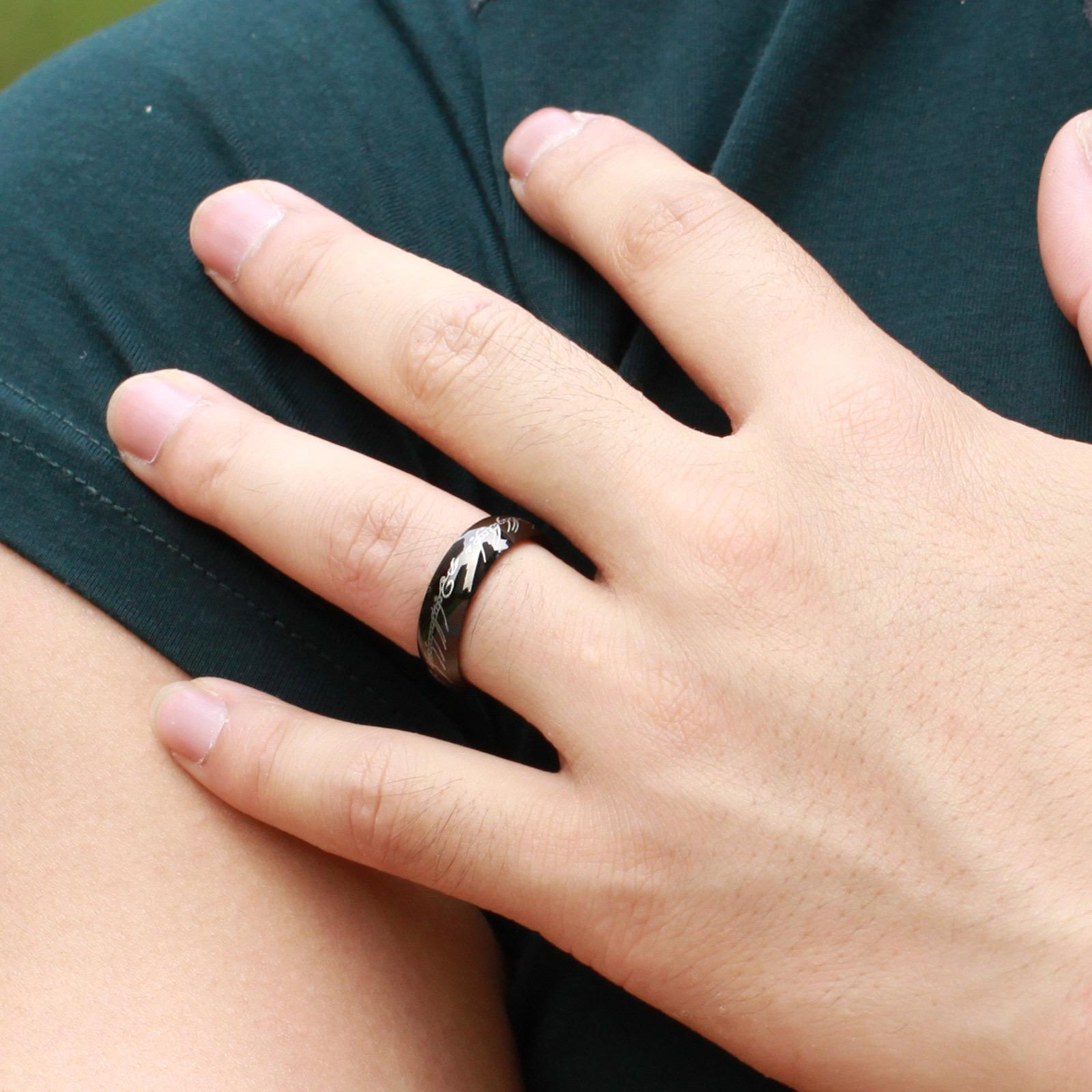Fashion jewelry movie men 39 s finger rings the one ring Which finger to wear ring for single