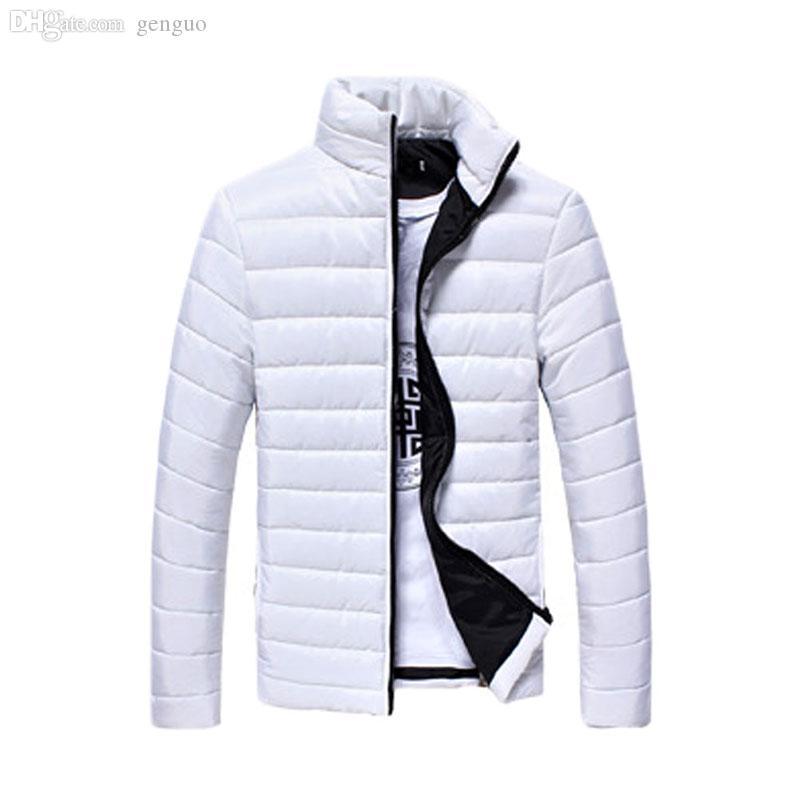 000e41132eb2 Fall-Men Solid Long Sleeve Cotton Padded Good Selling Jackets Coats ...