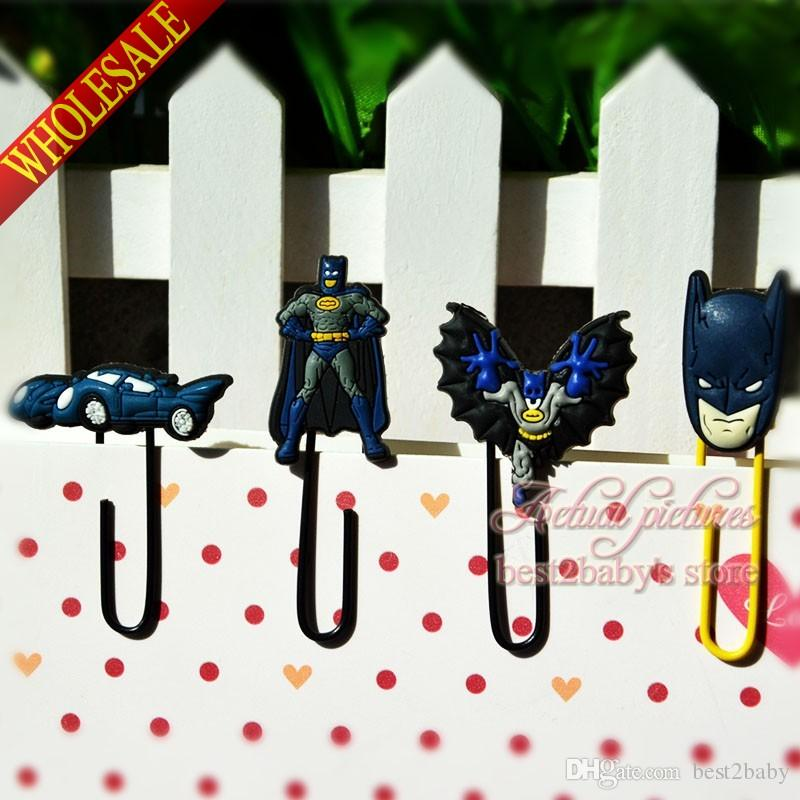 2018 Hot Batman Spider Man Diy Bookmarkers,Cartoon Mini  Paperclips,Childrenu0027S Learning Filing Supplies,For Books Page Holder,Kids  Gifts From Best2baby, ...