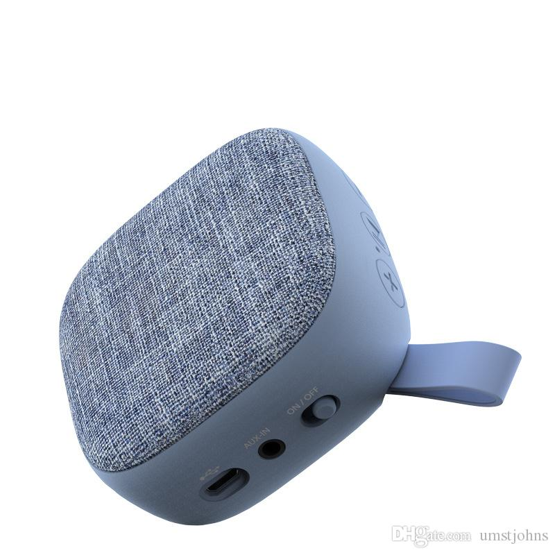 The new cloth art bluetooth acoustics outdoor sports high quality low sound artillery portable mini speaker