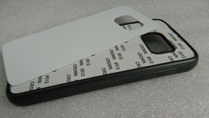 Voor Samsung Galaxy S7 / S7 EDGE 2D TPU Sublimatie Case Warmte Pers Personaliseer DIY Case + lege aluminium vel Gratis verzending Groothandel