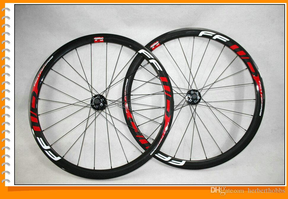 700c Disc Wheelset >> Disc Brake Ffwd 38mm Clincher Carbon Wheelset Glossy Road Wheels 700c Full Carbon Bicycle Wheels Red