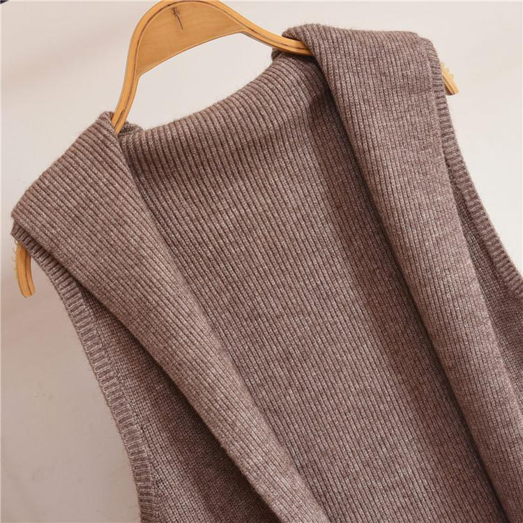 Women Cardigan vest 2018 Spring Autumn Fashion Knitted Wool Hooded Sleeveless Women Sweaters casual coats Pockets waistcoat 1804