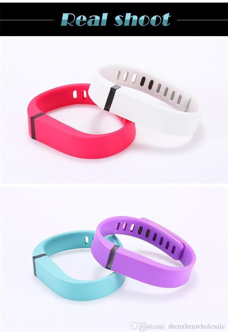 DHL Fast Ship Silicone Replacement Rubber Band with Clasp for Fitbit Flex Bracelet Wrist Strap High Quality