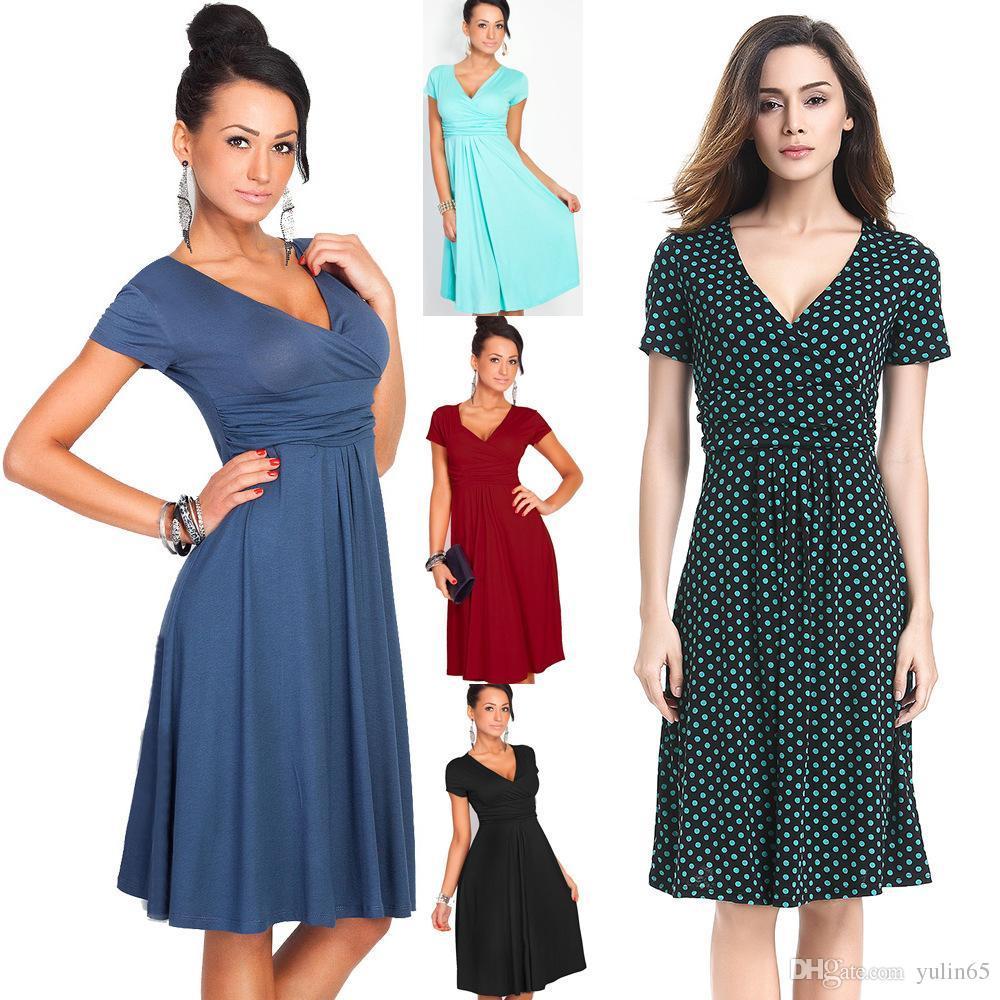 736e0a284e0c 2017 Europe Station Suit-dress European Star Will Pendulum Deep V Lead  Skirt Quick Sell Currency Source Dress Short Sleeve European Women s Dress  Supply ...