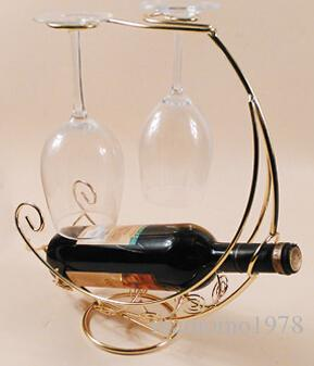 4 Cores Nova cremalheira do vinho de Ferro Corsair pendurado copo titular do vinho artes criativas e artesanato ornamentos venda quente A2081