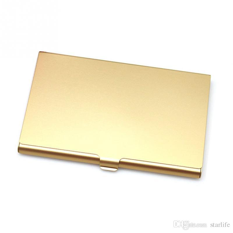 Business Credit Card Holder Aluminum Metal Wallet Bank ID Card Holder Cases Gift Metal Card Box Cover