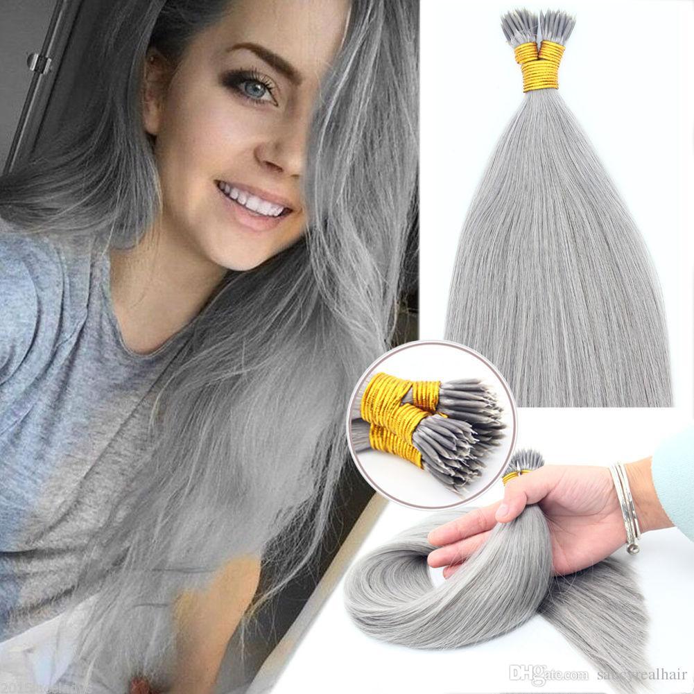 Grade 7a 16inch 24inch Nano Rings Brazilian Remy 100 Human Hair