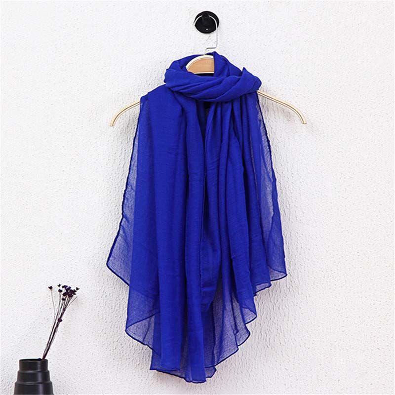 Femmes solide couleur écharpe hiver bonbons couleur écharpe 78 * 180 cm châles et écharpes lin foulard en coton plage chaude Pashmina 42 couleurs