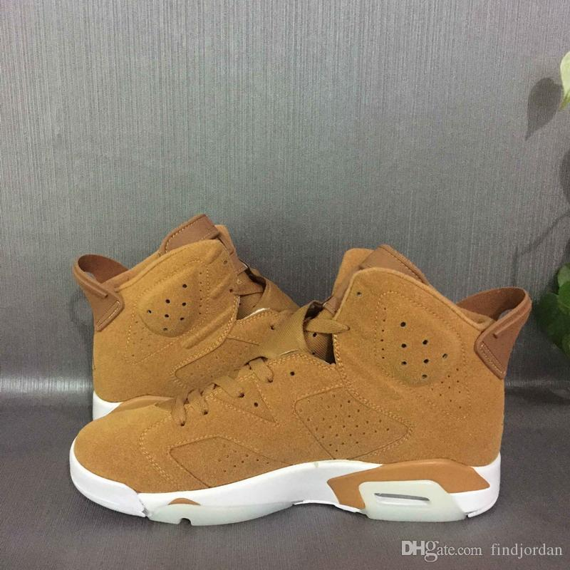 6 Wheat golden harvest 384664-705 men basketball shoes mens sports Ourdoor designer running sneakers cheap price man shoe with box