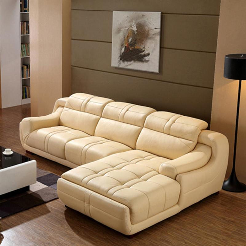 Modern Genuine Leather Sofa in Sofa Furniture living Room Furniture PU Full  Grain Genuine Leather Couch 696 Genuine Leather Sofa Sofa Couch Online with. Modern Genuine Leather Sofa in Sofa Furniture living Room