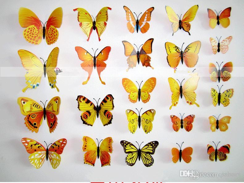 Wholesale 3d Art Butterfly Decal Wall Sticker Home Decoration ...