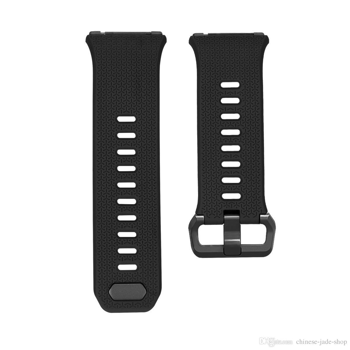 Pour Fitbit poignets ioniques poignet TPE Silicone Straps Band montre classique bandes de rechange / L