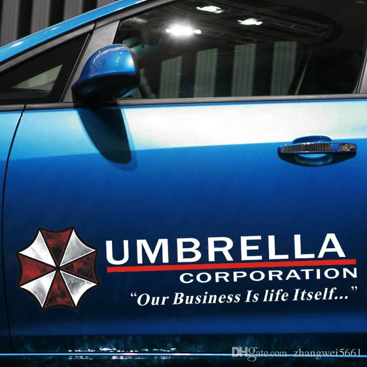 Discount Car Styling Resident Evil Personalized Stickers Umbrella - Custom car decals for business   how to personalize