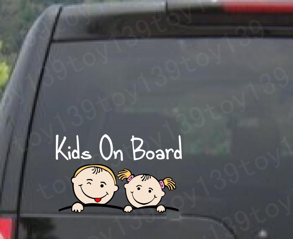 Baby on board kids on board vinyl funny car phone window decal stickers sticker reflective silver color car decal sticker decal online with 7 66 piece on