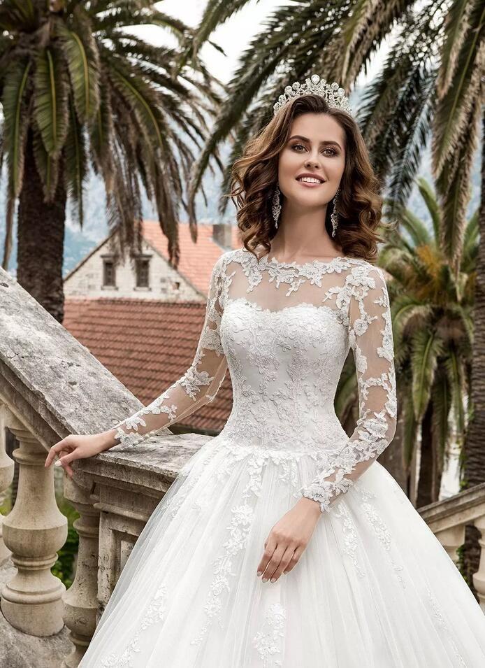 Bohomian 2020 A lijn kant trouwjurken met pure lange mouwen land bruids jurk lace up custom bruidsjurken Vestios de Novia