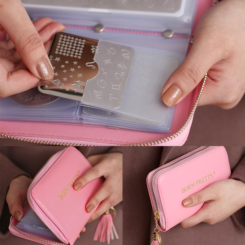 Nail Art Tools Templates 24 Slots Stamping Plate Holder Case Round ...