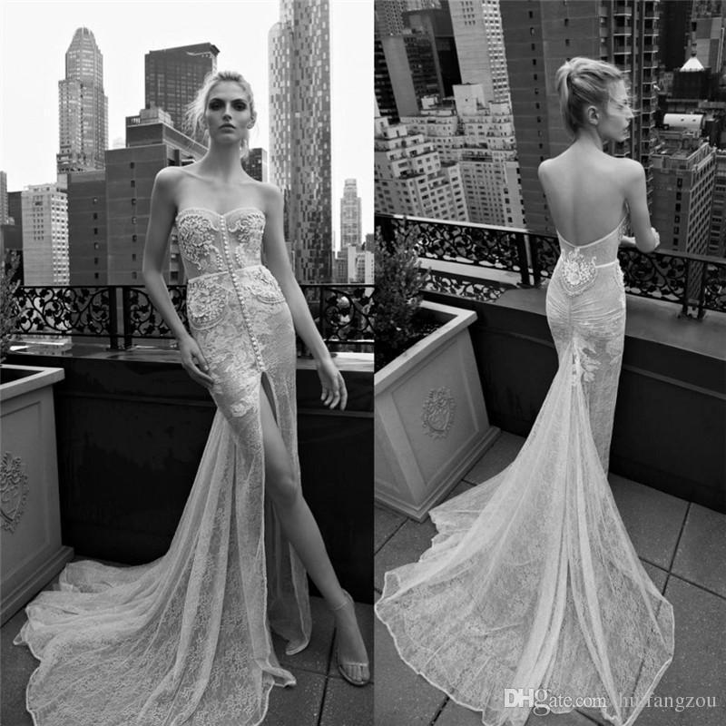 2016 Inbal Dror Lace Wedding Dresses Sweetheart Neckline Applique ...