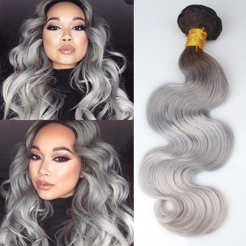 Two tone 1bgray hair extensions boby wave peruvian gray hair two tone 1bgray hair extensions boby wave 3pclot peruvian gray hair weave ombre gray hairsilver grey body wave free shipping pmusecretfo Images