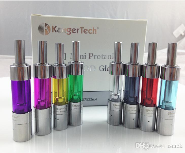 Kanger Mini Protank 3 Atomizer Electronic Cigarette 1.5ml Mini Protank3 iii Clearomizer with Kangertech Dual Coils Various Colors