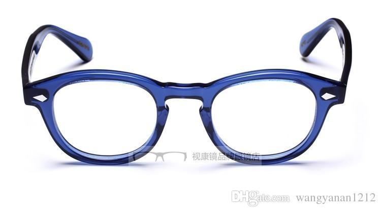 2016 Johnny Depp Bril Topkwaliteit Merk Ronde Brillen Frame Gratis verzending