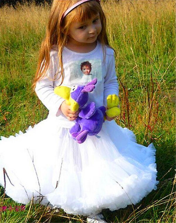 Filles Tutu Jupe Bébé Bébé Fille Robe Enfants Filles Danse Vêtements Mignon En Mousseline de Soie Tutu Pettiskirt Princesse Rose Jupe 3-6Y