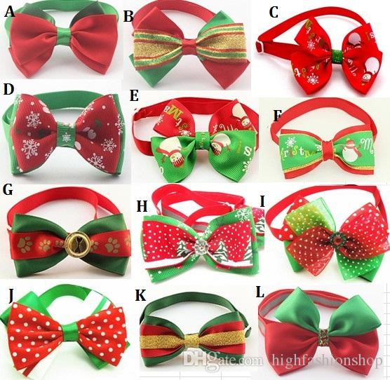 Christmas Holiday Dog Bow Ties Cute Neckties Collar Pet Puppy Dog Cat Ties Accessories Grooming Supplies P88