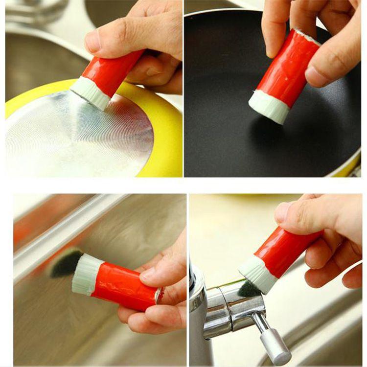 2 قطعة / الوحدة ماجيك عصا المقاوم للصدأ التطهير تنظيف فرشاة معدنية مزيل الصدأ تنظيف غسل فرشاة وعاء WX9-159