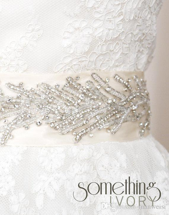 Hot Sale Bridal Belts with Beads Bridal Sashes with Rhinestones Bridal Accessories Sequins Belt for Prom/Evening/Wedding Gowns