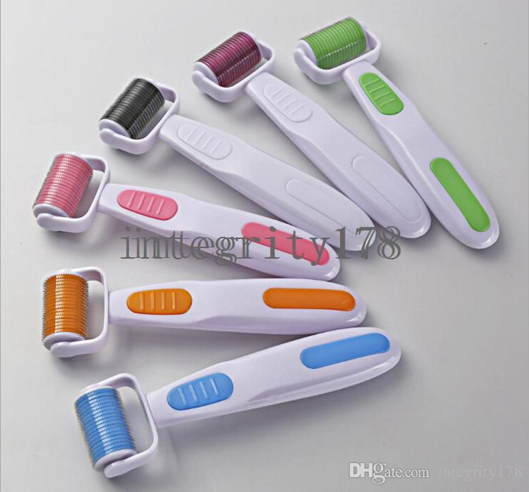herramienta de maquillaje dermaroller cosmético MNR 1080 agujas derma roller con herramienta de belleza de la piel de la cabeza del rodillo microneedle intercambiables