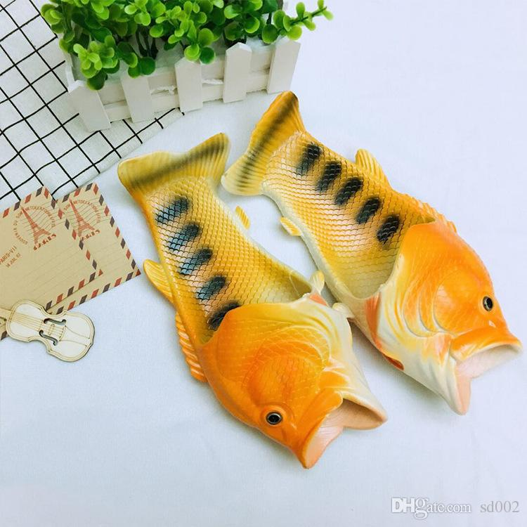 Fish Shaped Baboosh Funny Personality Plastic Slippers Men And Women Summer Beach Shoes Multi Color 11 5hy3 C R