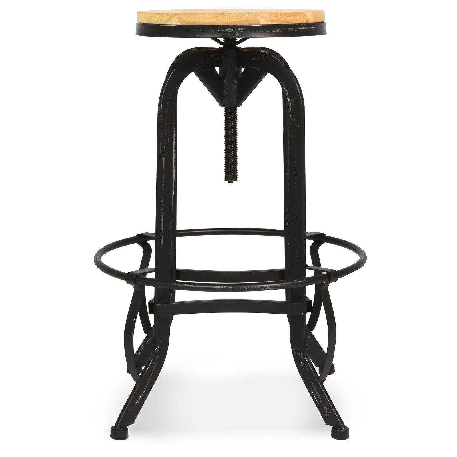 Design De Bois Industriel Hauteur Métal Bar Tabouret Vintage hdrtCsQ