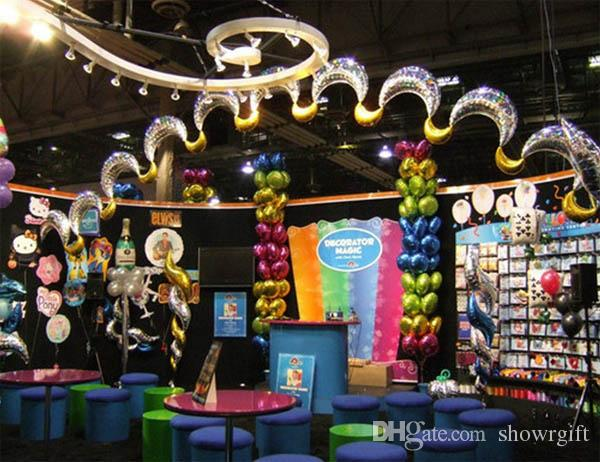 18inch Moon foil balloons Party supplies Event party decoration Birthday celebration favors Good quality wholesale