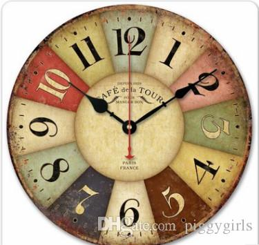 Wall Clock European   Style Creative Gift Clock Living Room Quiet Wooden  Modern Wall Retro Clock 5 Wall Clock Quiet Classic Online With $22.08/Piece  On ...
