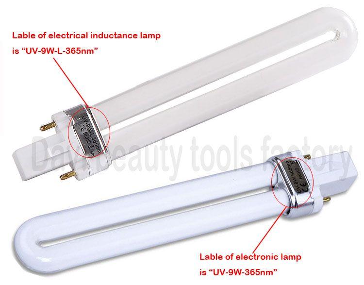 9 W elektronik UV Lambası Tırnak Kurutucular Jel Kür Nail Art UV tırnak ampul