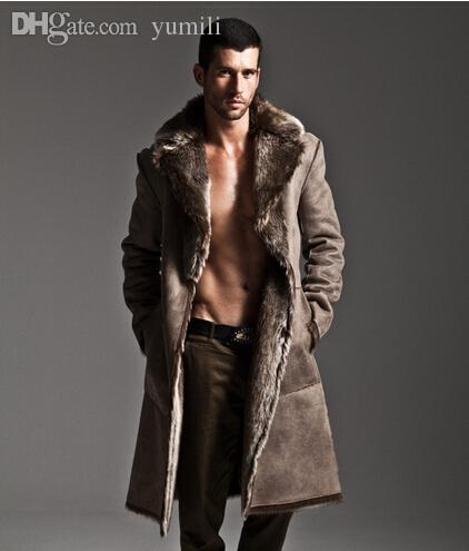 Online Cheap Fall Artificial Mink Fur Coat Men Long Thickening ...