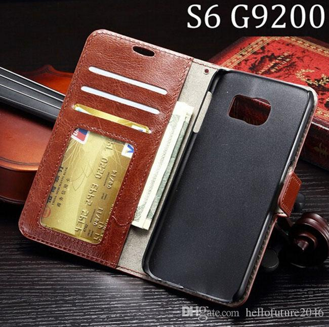Samsung Galaxy S6 G920 A3 A5 A7 Lüks Retro Vintage Cüzdan Çevirme PU Deri Kılıf Kapak Fotoğraf Çerçevesi Kredi Kartı Yuvaları Standı Tutucu