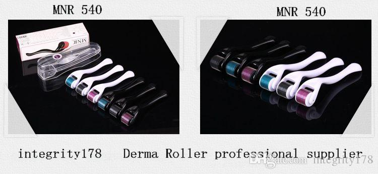 New arrival MNR 540 micro Medical stainless steel needle derma roller for skin care therapy DHL free