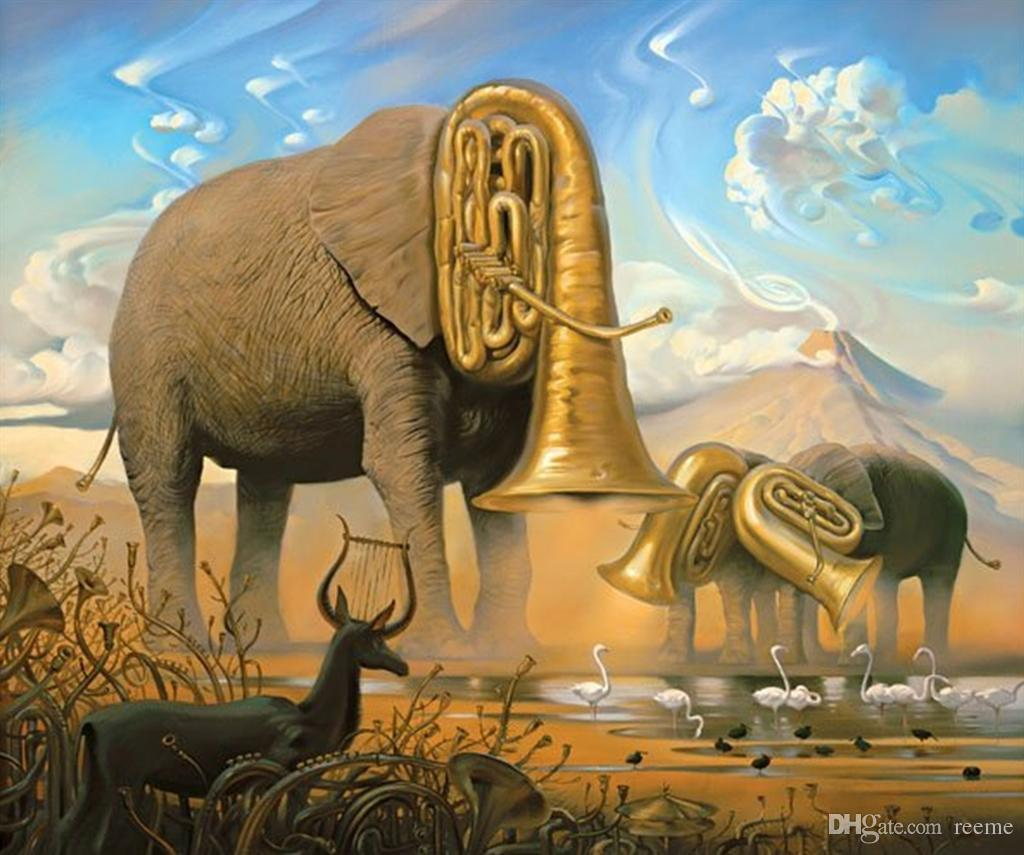 salvador dalis oil painting for bar elephants meaning hand painted high quality salvador dali paintings online with 14208piece on reemes store