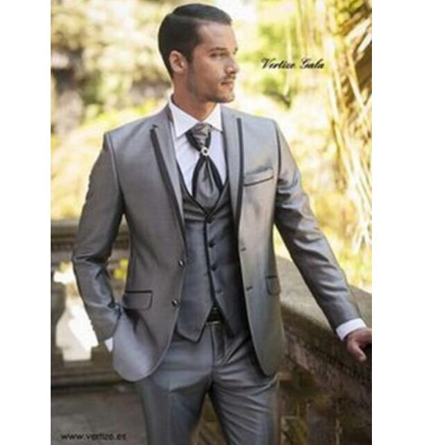 New Designer Men\'S Wedding Suits Groom Tuxedos Formal Business ...