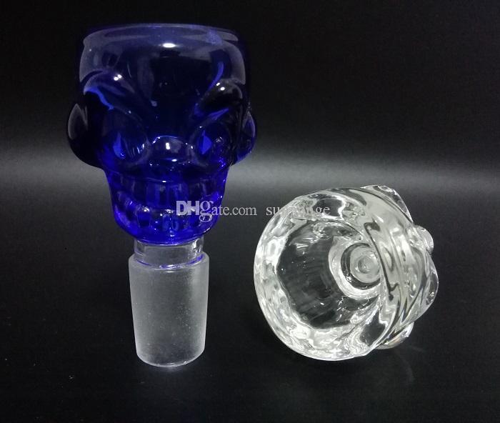 Cam fıskiye ve Kül Catcher için 18.8mm Cam Kafatası Kase Cam sigara Kase
