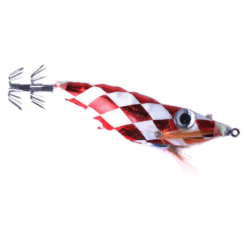 NEW lifelike Colorful Painted Shrimp Artificial squid bait 10cm 8.5g Freshwater Fishing big eyes octopus lure hook For Night fishing