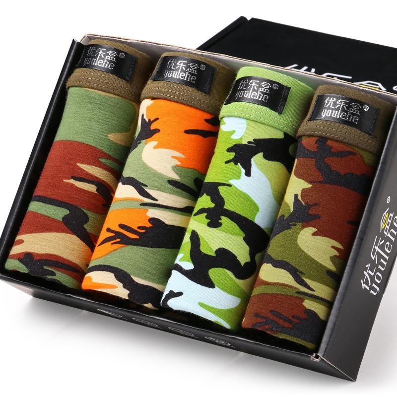 e9327010c503 calzoncillos de camuflaje de los hombres ropa interior de impresión modal  transpirable ropa interior masculina
