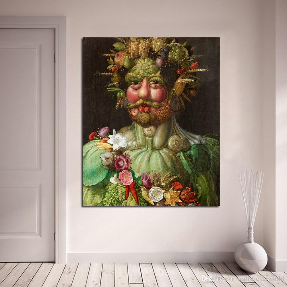 1 Unids Rudolf II De Habsburg Como Vertumnus Arcimboldo Pintura De la Lona Para la Sala de estar Casa Deco Pintura Al Óleo Sobre Lienzo Sin marco