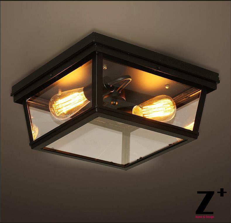 vintage ceiling lighting. 2017 American Industrial Style Rh Cambridge Flushmount Edison Lights Ceiling Lamp Vintage Glass Iron Box Light From Zplus 14978 DhgateCom Lighting E