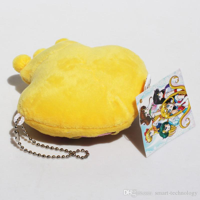 Anime Sailor Moon Crown Plush Pendants Stuffed Doll Soft Toys With Ring 10cm EMS